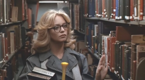 "Goldie Hawn as unlikely librarian -""you used to show a bit of cleavage"","